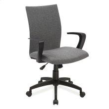 Gray Linen Apostrophe Office Chair #10115GR