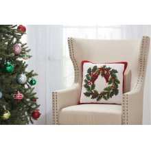 """Home for the Holiday Yx106 Multicolor 18"""" X 18"""" Throw Pillows"""