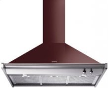 "Ventilation Hood, 90 cm (approx. 36""), Glossy Red Wine"