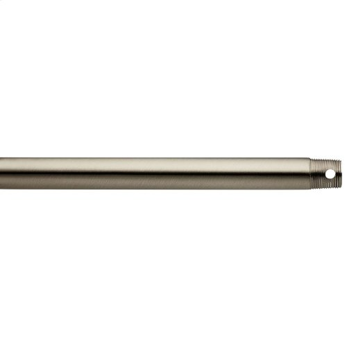 """Dual Threaded 48"""" Downrod Brushed Stainless Steel"""