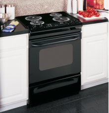 """GE® 30"""" Slide-In Electric Range with Standard Clean Oven"""