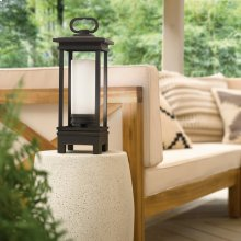 South Hope Portable Bluetooth LED Lantern Rubbed Bronze