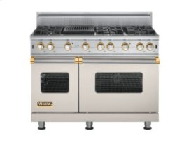 "48"" Custom Sealed Burner Range, Propane Gas, Brass Accent"