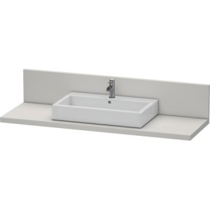 Console + Back Panel For Above-counter Basin And Vanity Basin, Concrete Gray Matt Decor