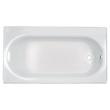 Princeton 60x30 inch Integral Apron Bathtub with Drain - White