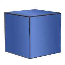Blue Mirrored Cube Table