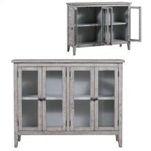 Pembroke Plantation Recycled Pine White Wash 4 Door Tall Sideboard