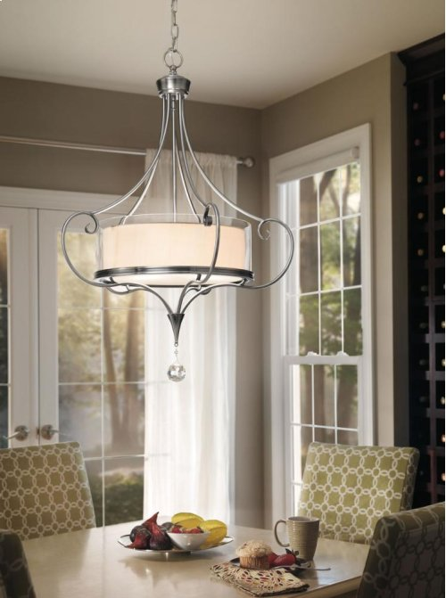Lara Collection Lara 3 Light Chandelier/ Pendant in Classic Pewter