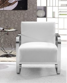 Divani Casa Brizo - Modern White Leather Lounge Chair