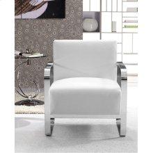 Divani Casa Brizo - Modern White Leather Lounge Chair