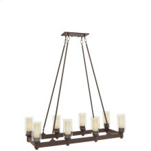 Circolo 8 Light Linear Chandelier Olde Bronze®