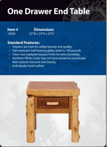 One Drawer End Table- Traditional
