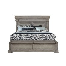 Madison Ridge King / California King Panel Blanket Chest Footboard and Slats in Heritage Taupe