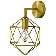 Adept Brass Wall Sconce Light Fixture Product Image