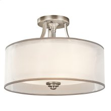 Lacey Collection Lacey 3 Light Semi Flush Ceiling Light - AP