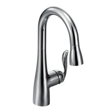 Arbor chrome one-handle pulldown bar faucet