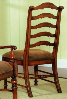 Waverly Place Sporty Cognac Fabric Ladderback Side Chair