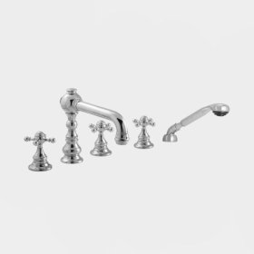 2700 Series Roman Tub Set with Diverter Handshower with Tremont X Handle (available as trim only P/N: 1.276293T)