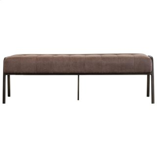 Venturi PU Tufted Bench, Devore Brown