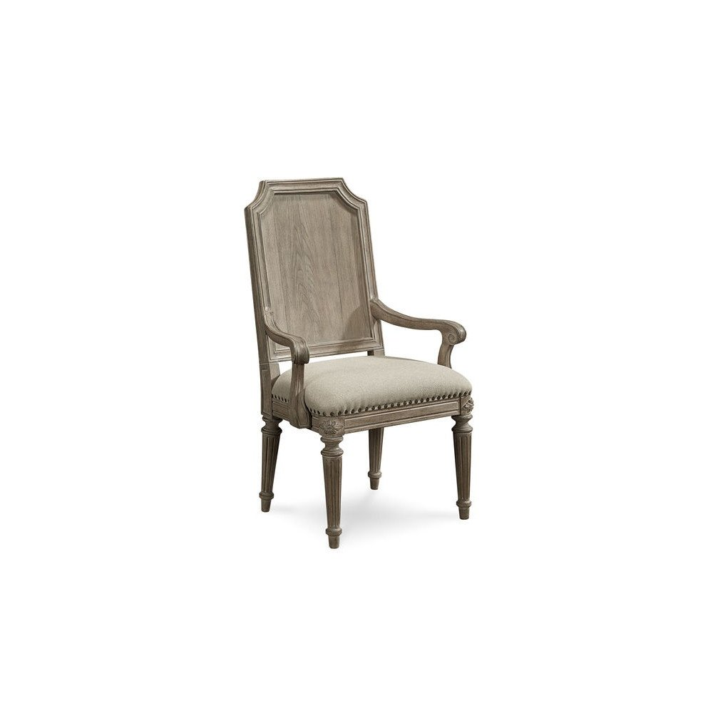 Arch Salvage Mills Arm Chair - Parchment