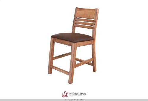 "24"" Barstool for Counter Height Table - with Faux Leather seat**"
