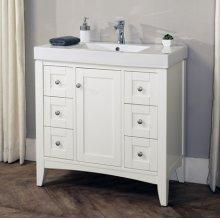 """Shaker Americana 36x18"""" Vanity - Polar White"""