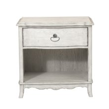 Open Nightstand - White