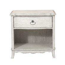 Beachcomber 1 Drawer Nightstand in Driftwood White