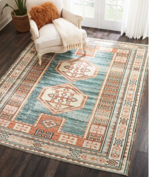 Madera Mad04 Teal Green Rectangle Rug 3'6'' X 5'6''