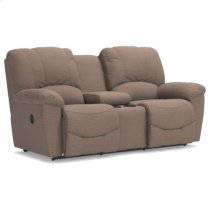 Hayes La-Z-Time® Full Reclining Loveseat w/ Console Product Image