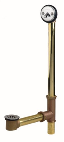 Chrome Gerber® Classics Brass Trip Lever Roman Tub Drain With Pre-set Adjustable Linkage
