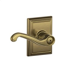 Flair Lever with Addison trim Bed & Bath Lock - Antique Brass