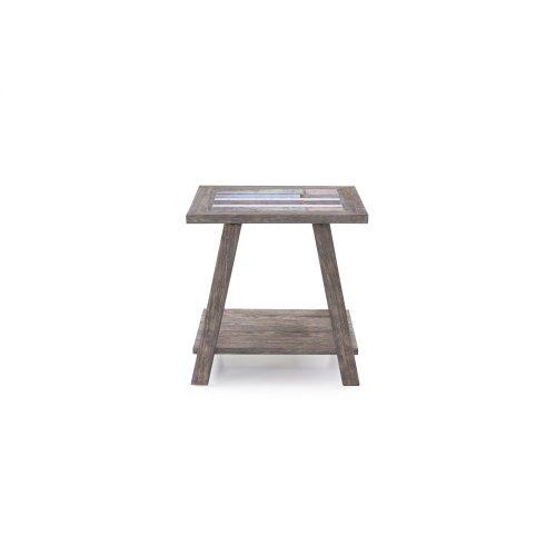 Emerald Home Laurel Lane Square End Table W/tile Top Gray T306-01