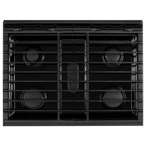 Whirlpool® 5.8 Cu. Ft. Slide-In Gas Range with EZ-2-Lift™ Hinged Grates - Black Ice