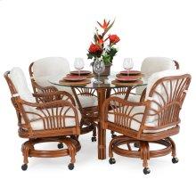 5500 Series 5 Piece Swivel Dining Set Pecan Glaze