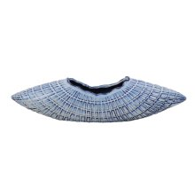 """White/blue Ceramic Curve Vase 6.5"""""""