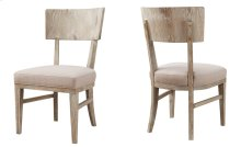 2-pack Side Chair Wood Back-sandstone Finish W/upholstered Seat Beige #d4029-3 Set Up