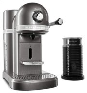 Nespresso® Espresso Maker by KitchenAid® with Milk Frother - Medallion Silver Product Image