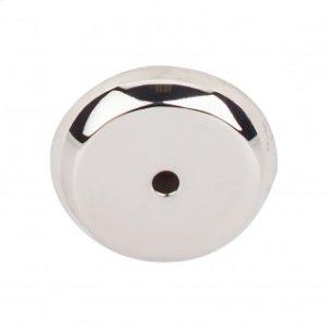 Aspen II Round Backplate 1 1/4 Inch - Polished Nickel