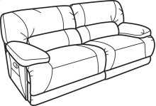 Fleet Street Leather Power Reclining Sofa