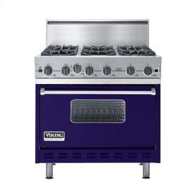 """Cobalt Blue 36"""" Open Burner Commercial Depth Range - VGRC (36"""" wide, six burners)"""