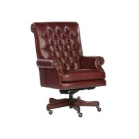 Merlot Leather Executive Chair Product Image