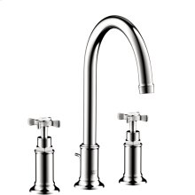 Chrome Montreux Widespread Faucet with Cross Handles