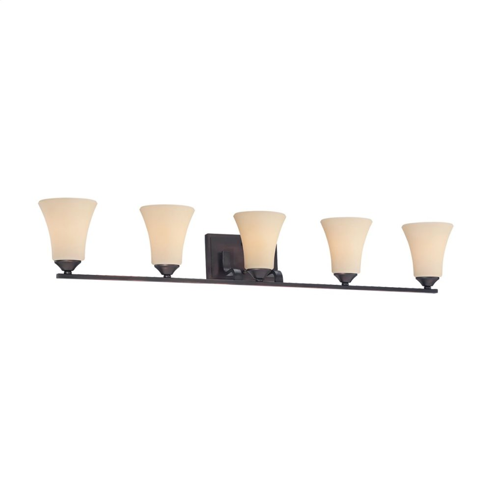 Treme 5-Light Wall Lamp in Espresso
