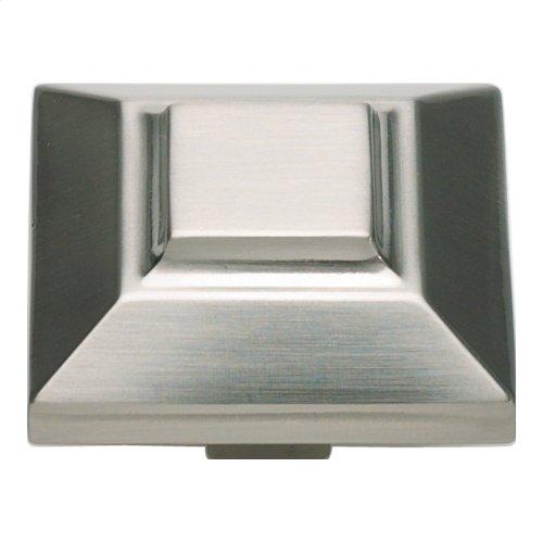Trocadero Large Square Knob 1 1/2 Inch - Brushed Nickel