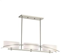 Suspension Collection Suspension 3 Light Halogen Linear Chandelier - NI