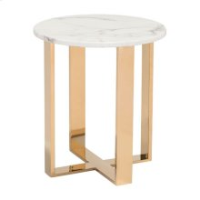 Atlas End Table Stone & Gold