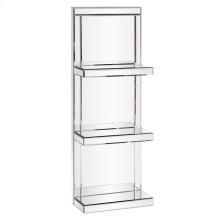 Mirrored Shelf with 3 shelves