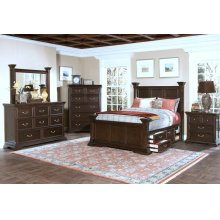King Headboard, Footboard and Storage Base