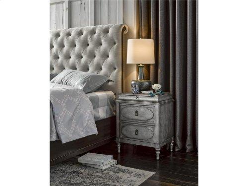 Cute-as-a-Button Sleigh Bed Set King 66